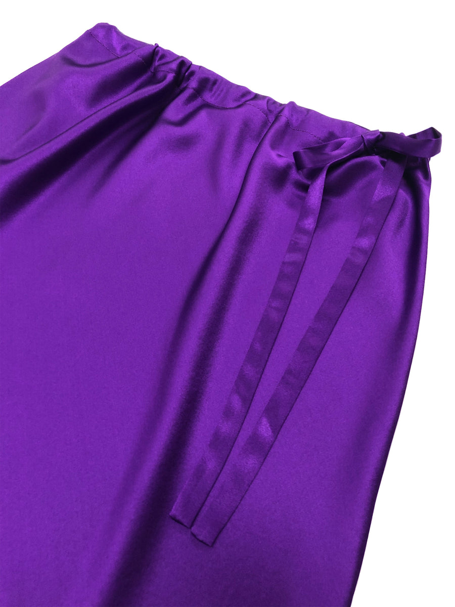 Drawstring Skirt in Purple