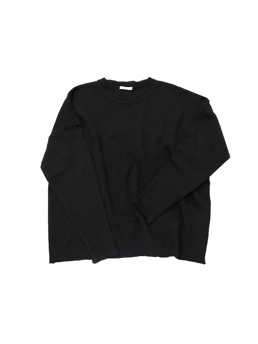 New Slouchy Crew in Black