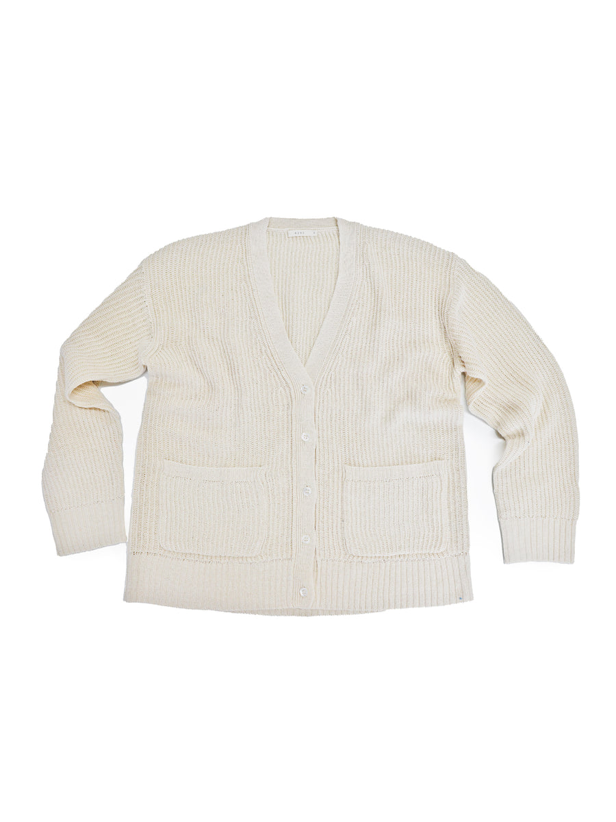 Ribbed Kurt Cardigan in Natural