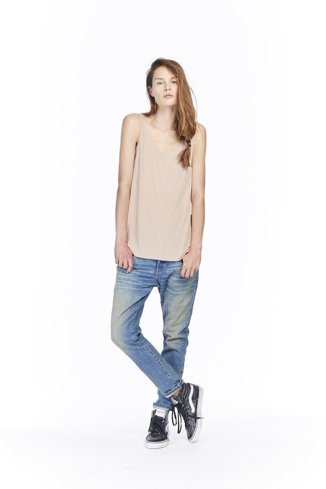 link-6397-nt169-scalloped-tank-nude NT169 Scalloped Tank- Nude, NP002 Baggy- Worker Wash