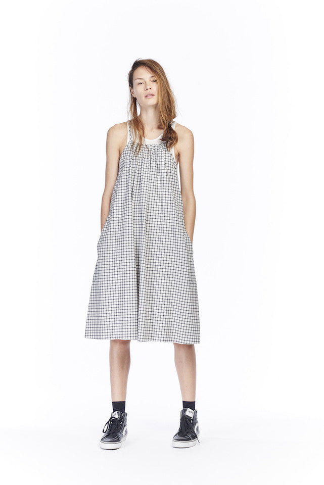 ND117 Flannel Nightie- Black check