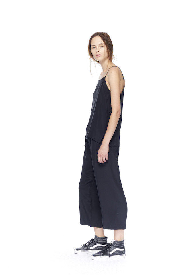 link-6397-nt189-square-cami-washed-black NT189 Square Cami- Washed Black, NP085 Drawstring Pant- Washed Black