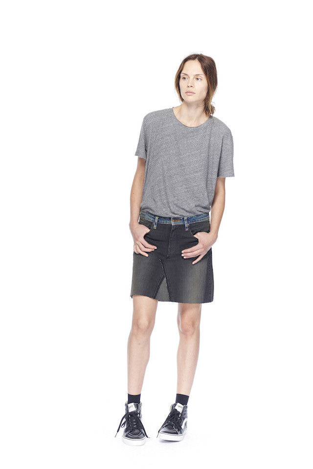 NT197 Bias T- Heather Grey, link-6397-ns031-contrast-mini-skirt-washed-black NS031 Contrast Mini Skirt- Washed black