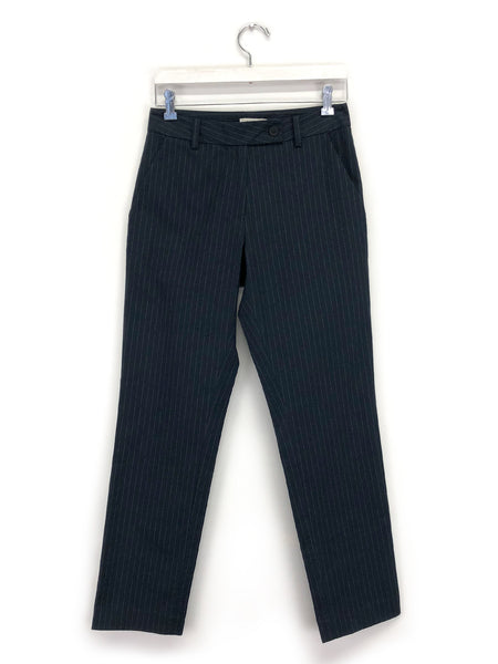 Classic Trouser in Navy Pinstripe