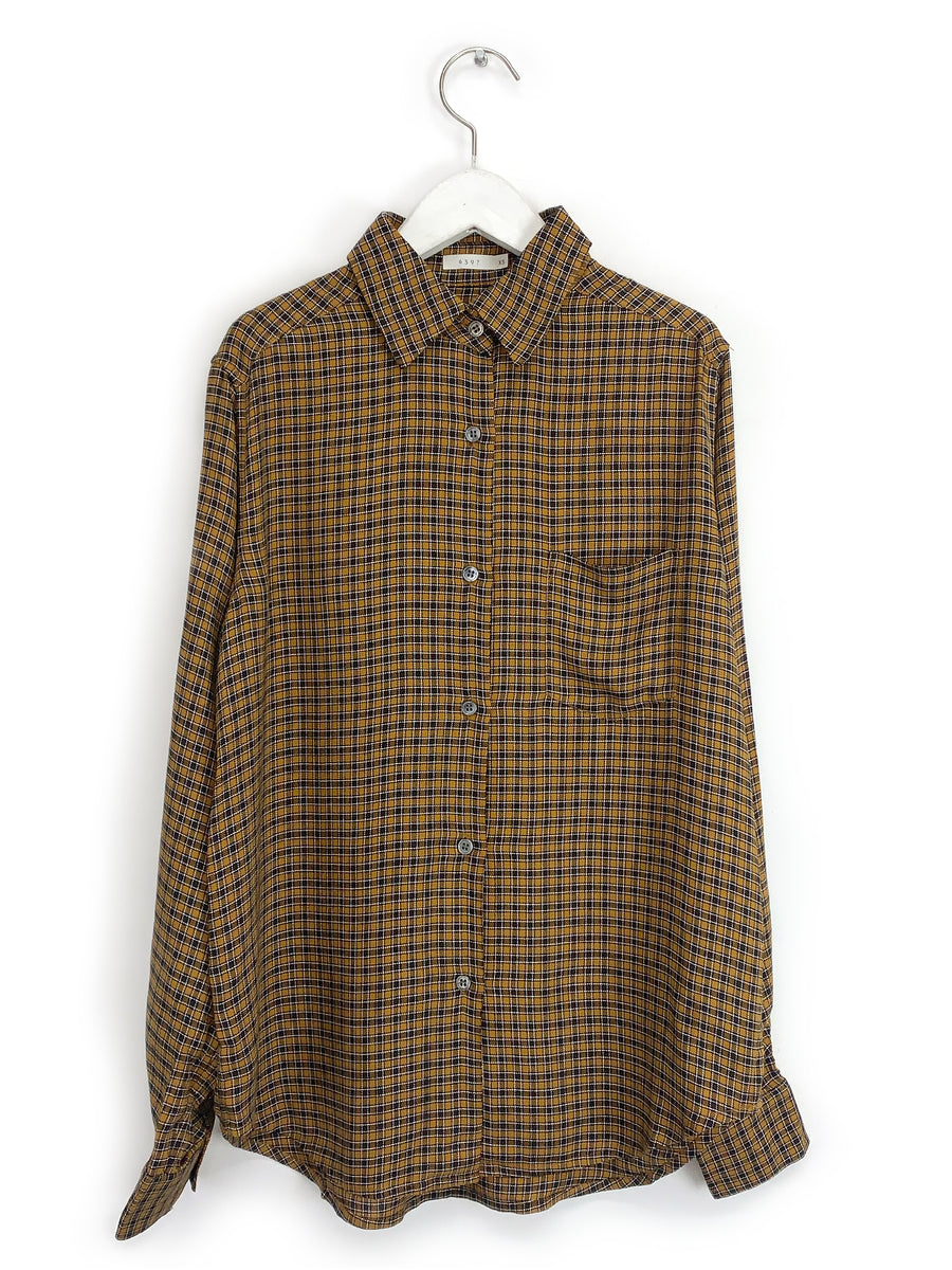 Yellow Plaid Buttondown Shirt
