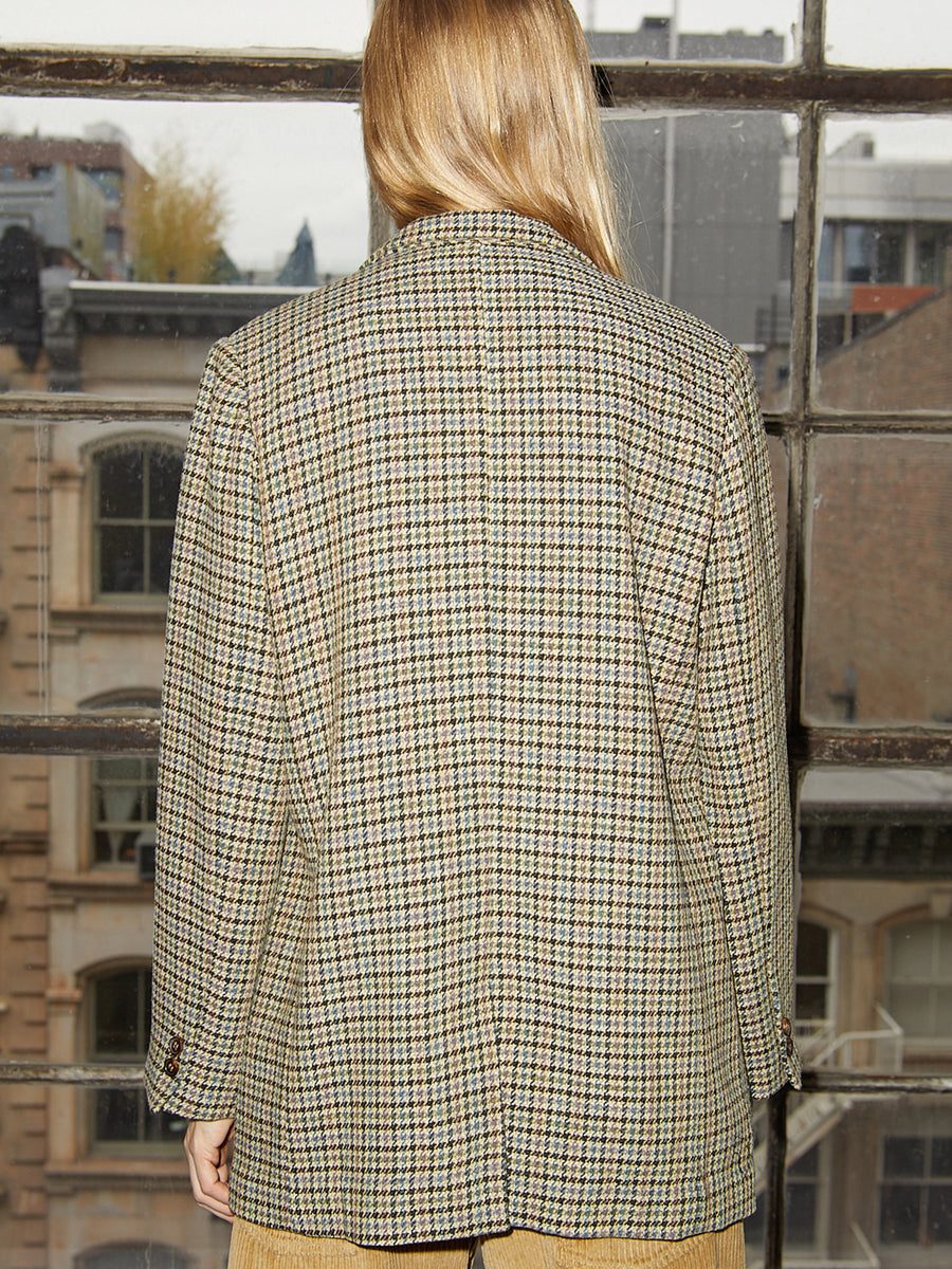 Tweed Blazer in Yellow