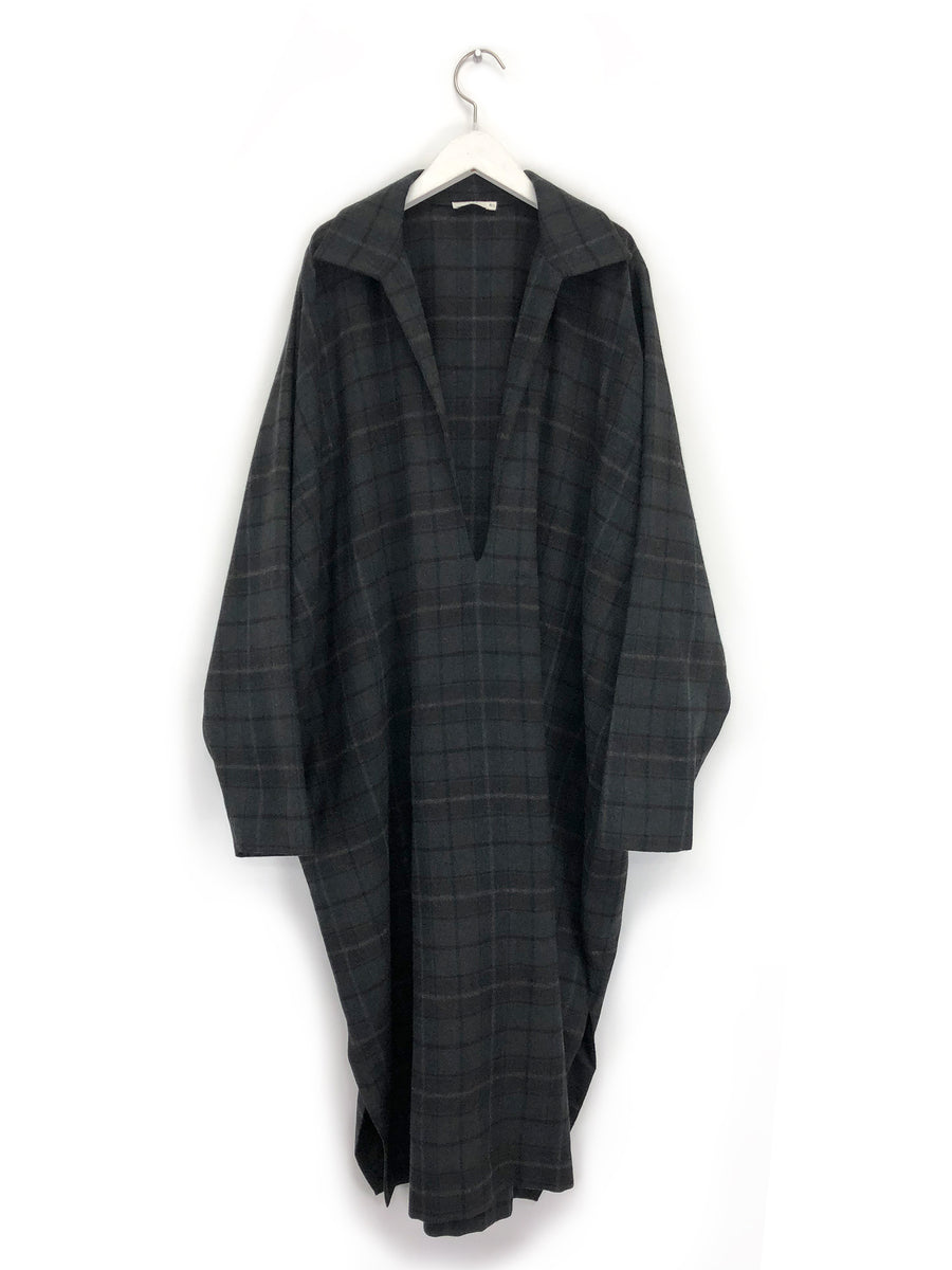 Wool Plaid Kaftan