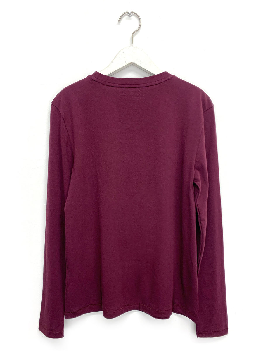 Burgundy Longsleeve Mini Boy T