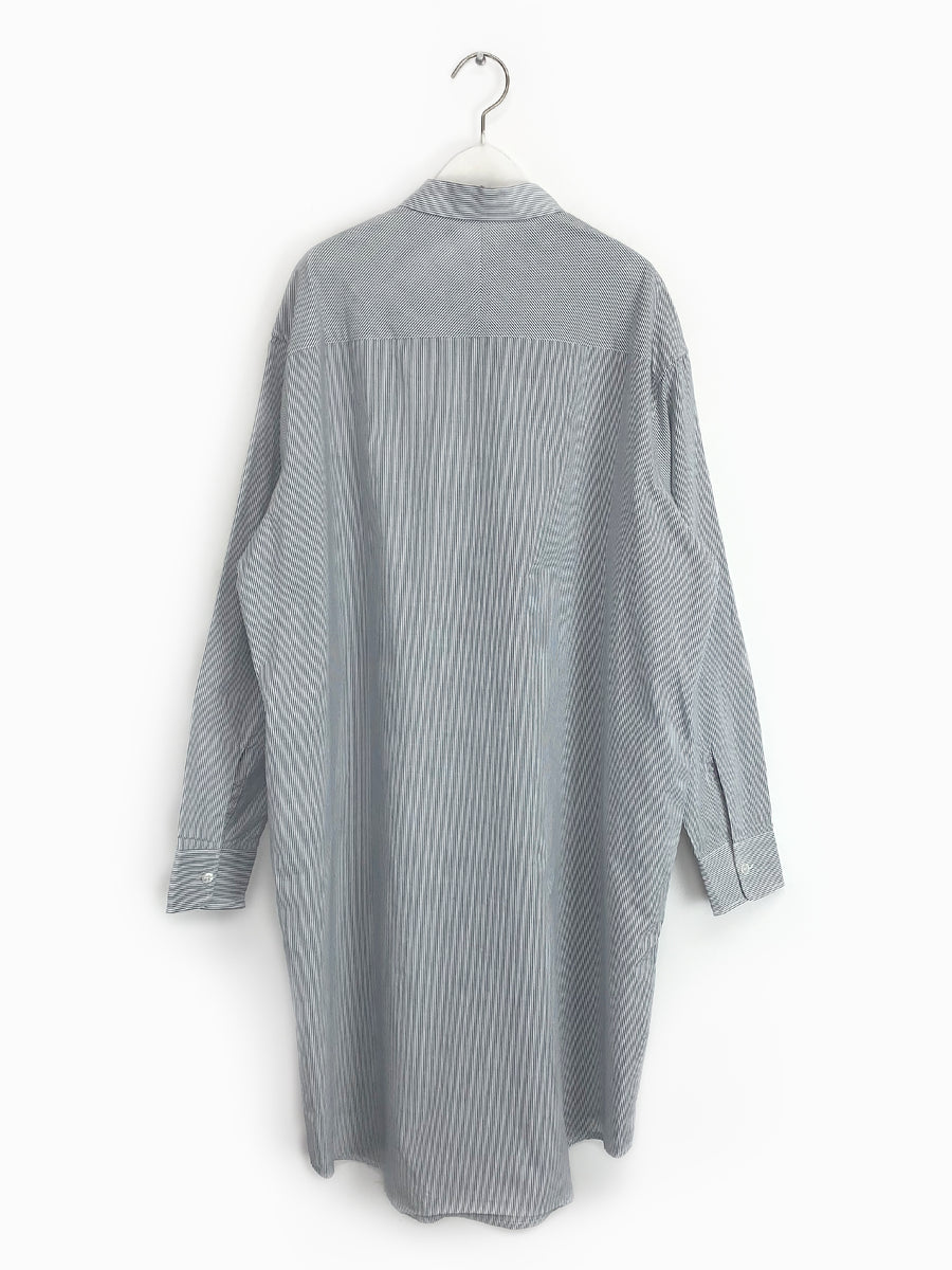 Peace Shirtdress in Navy Stripe