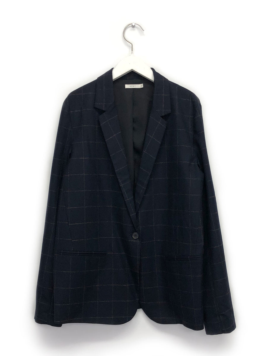 Perfect Blazer in Navy Windowpane