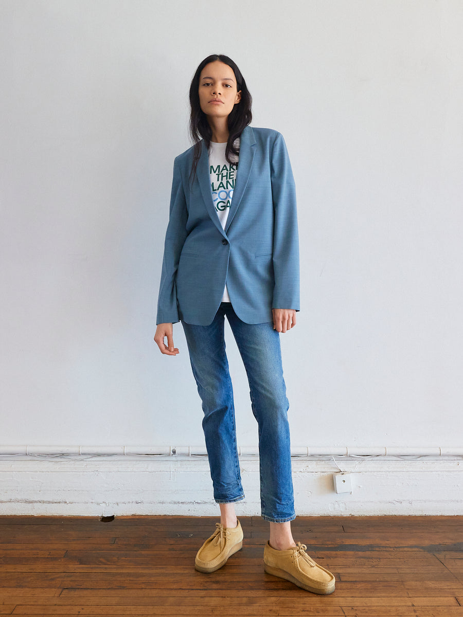 Perfect Blazer in Chambray