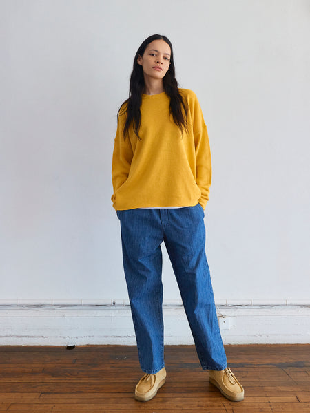 New Slouchy Crew in Yellow