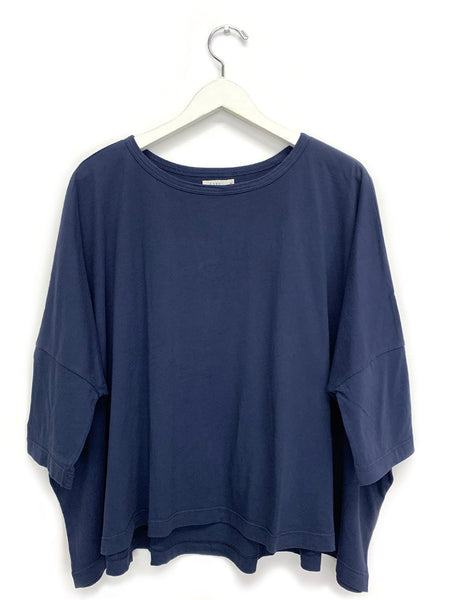Navy Square Tee