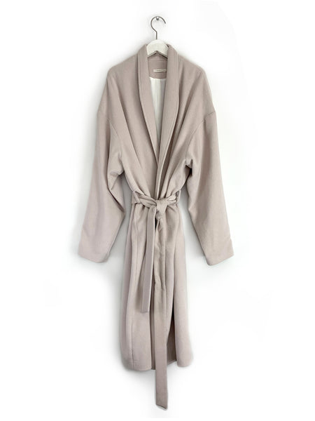 Wrap Coat in Pale Pink