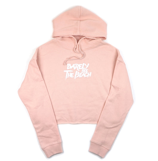 Logo Hoodie: Blush ladies crop
