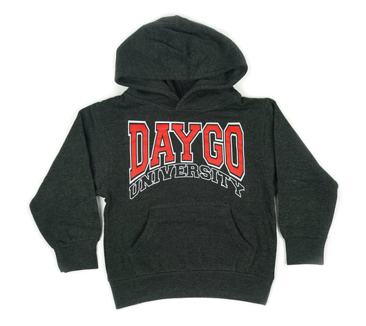 YOUTH Daygo University hoodie: Charcoal/Red
