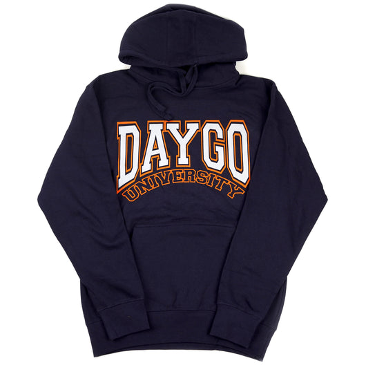 Daygo University hoodie: navy/orange
