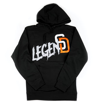 Blk/Orange Legend hoodie
