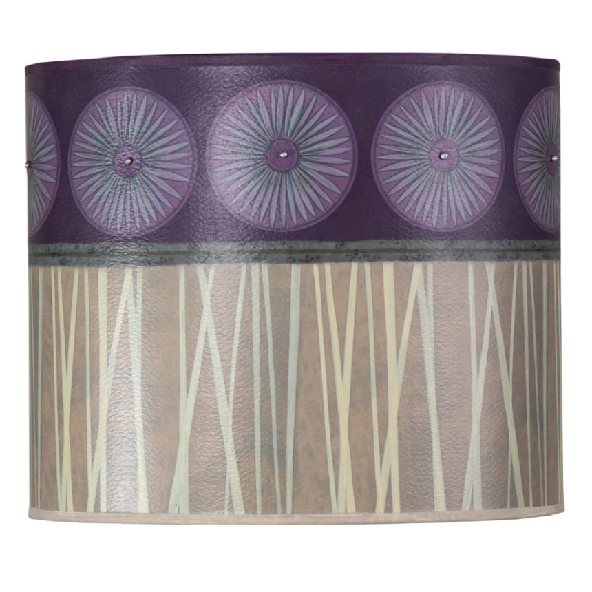 Large Oval Drum Lamp Shade in Amethyst
