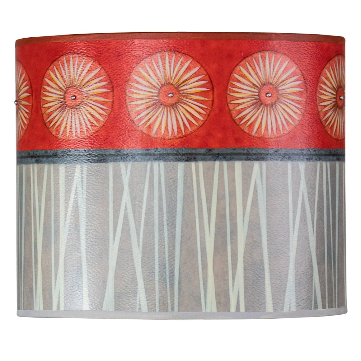 Large Oval Drum Lamp Shade in Tang