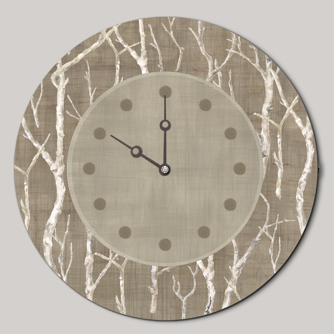 Round Wall Clock in Twigs