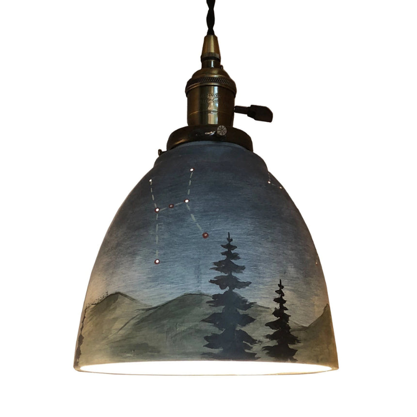 Ceramic Pendant Lampshade in Midnight