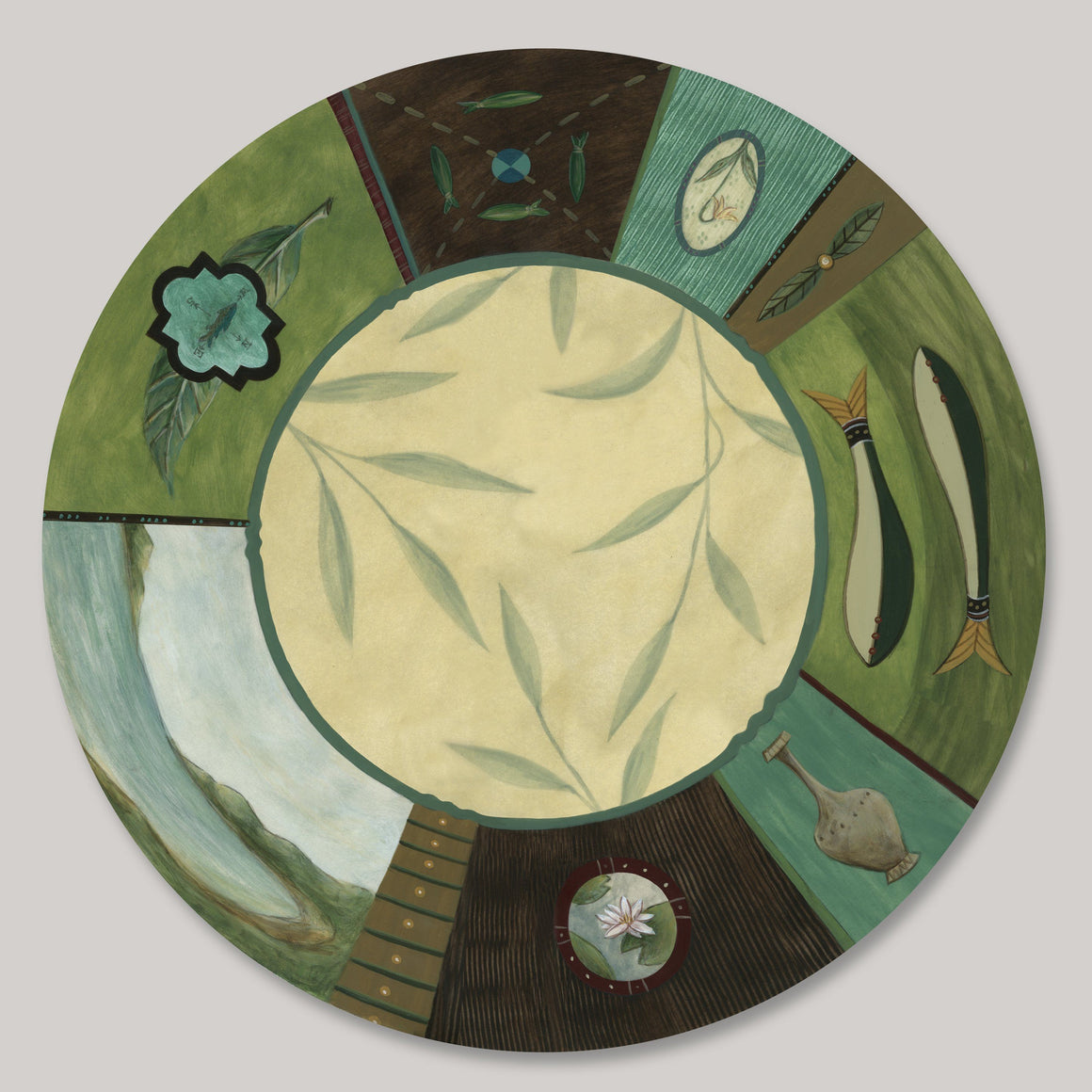 "Twin Fish 17"" Lazy Susan"