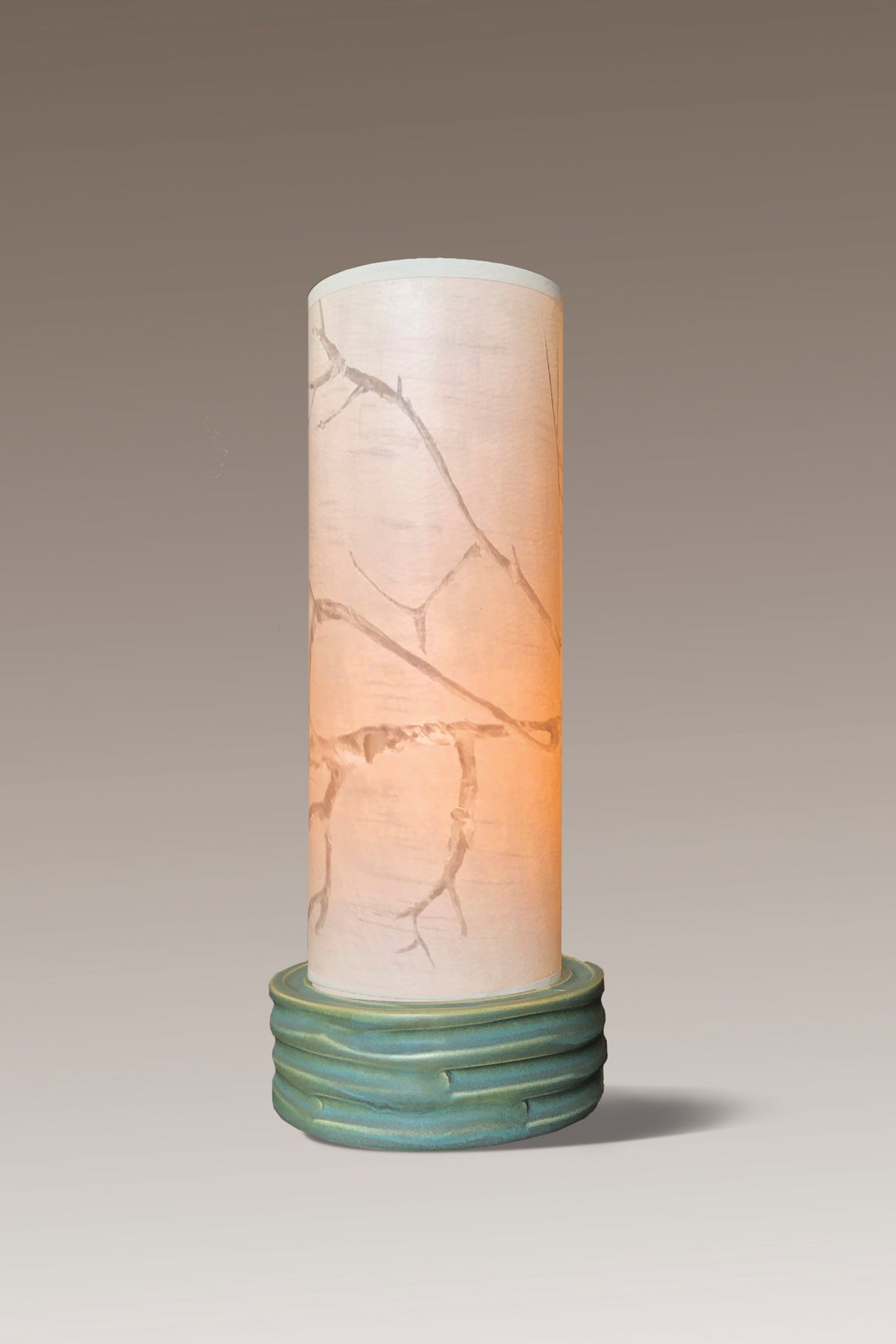 Ceramic Luminaire Accent Lamp with Sweeping Branch Shade