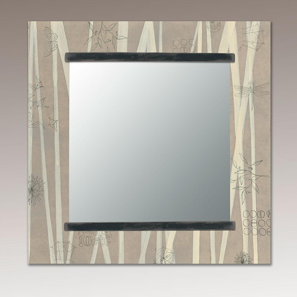 Square Wall Mirror in Birch