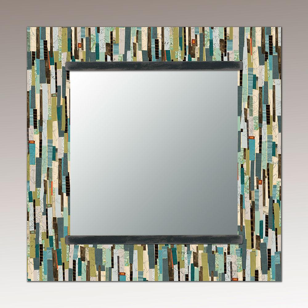 Square Wall Mirror in Papers
