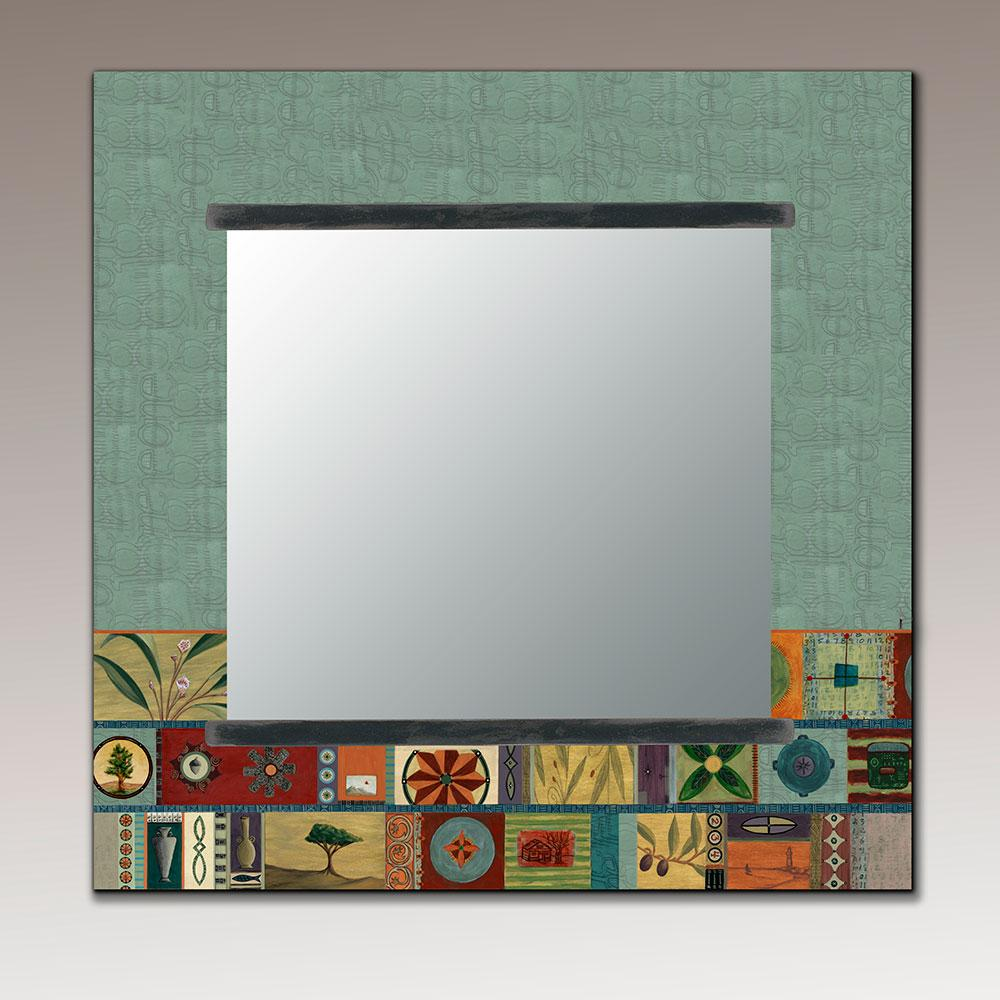 Square Wall Mirror in Tesserae