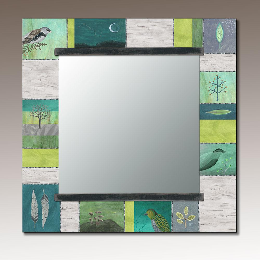 Square Wall Mirror in Woodland Trails