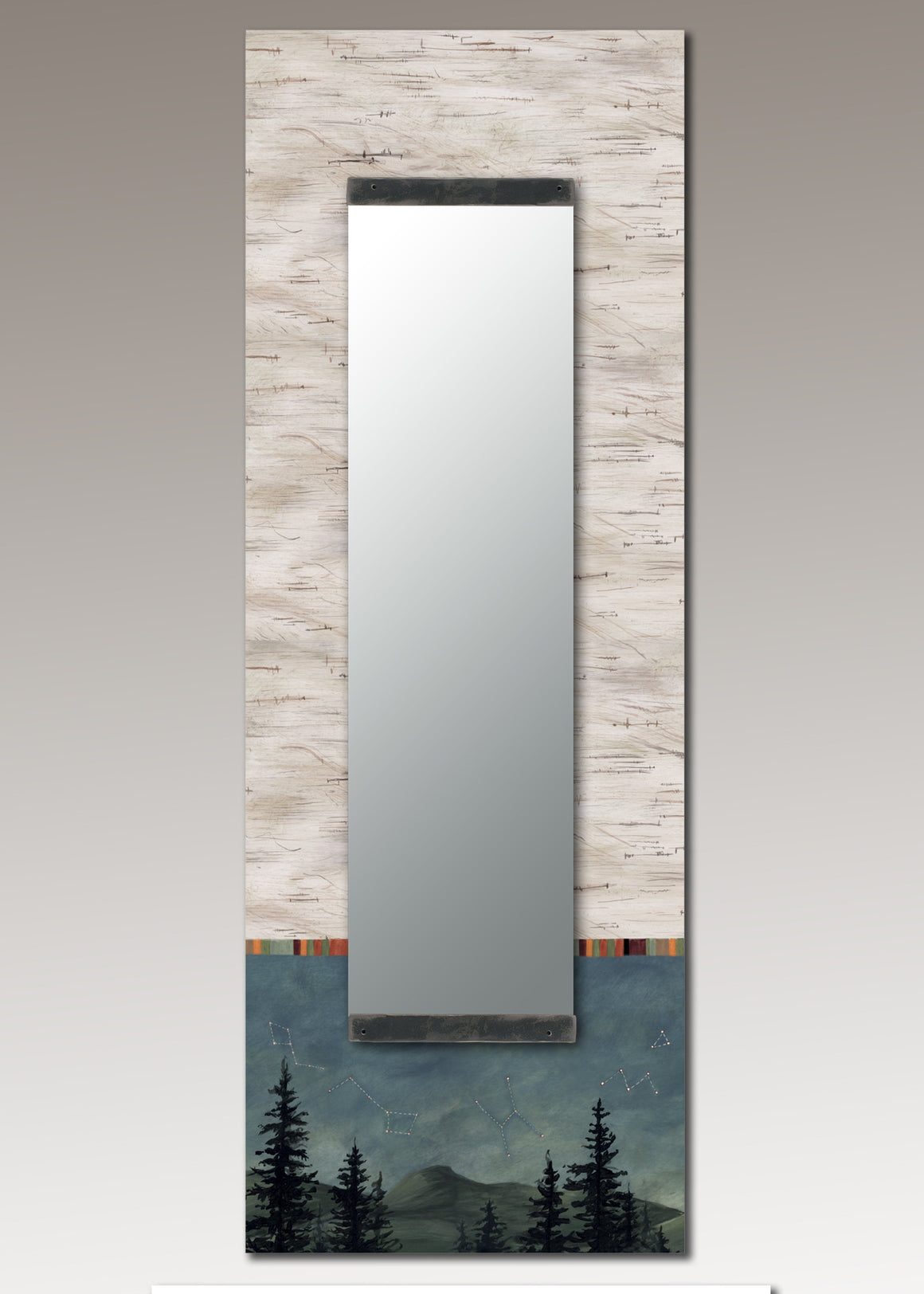Tall Wall Mirror in Birch Midnight