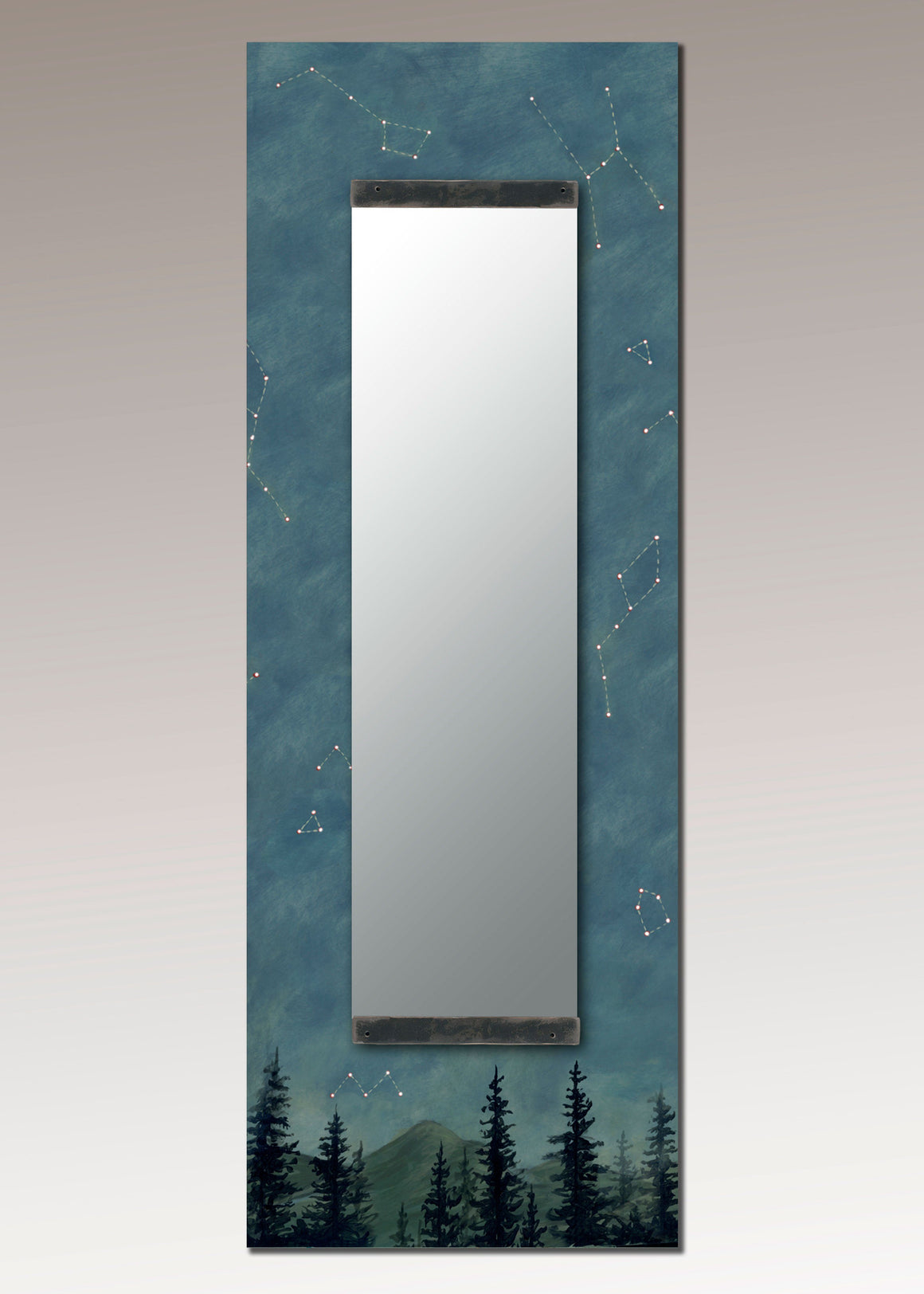 Tall Wall Mirror in Midnight Sky