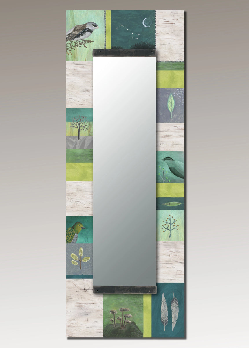 Tall Wall Mirror in Woodland Trails