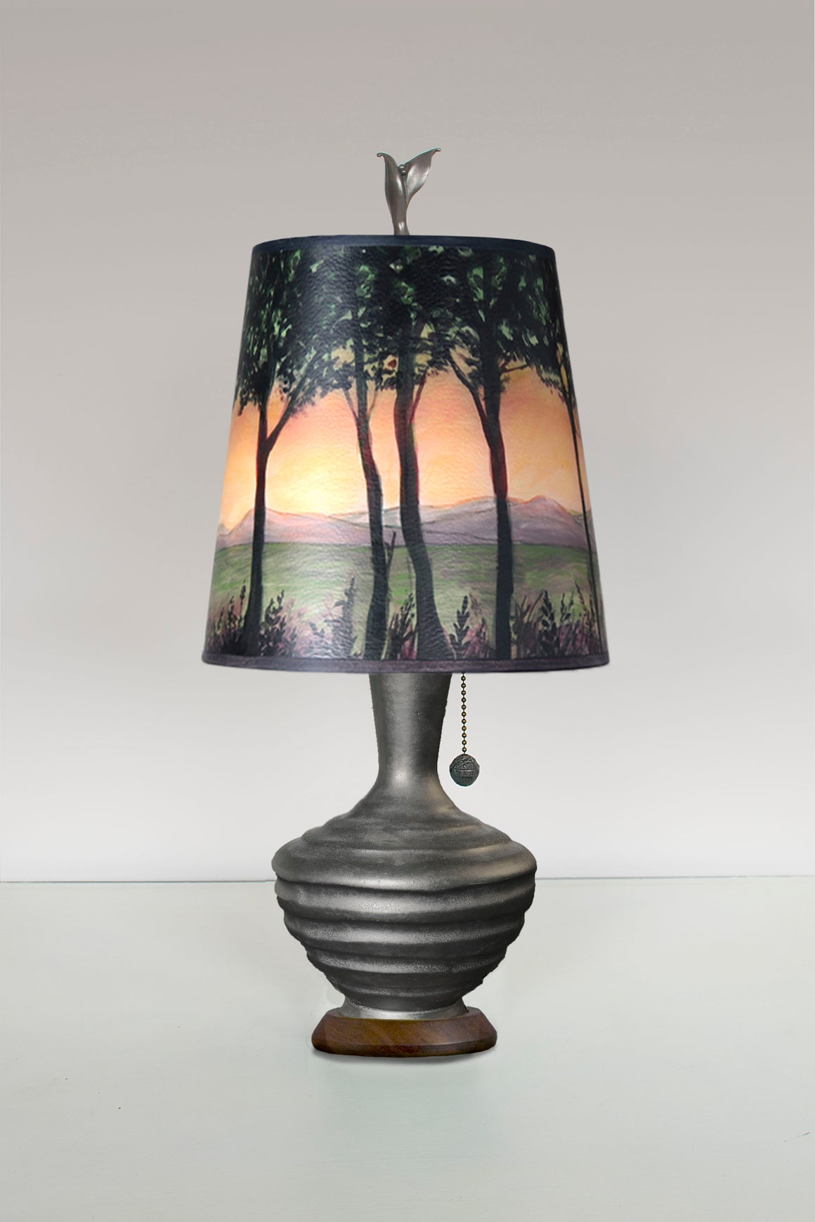 Foundry Ceramic Table Lamp with Small Drum Shade in Dawn