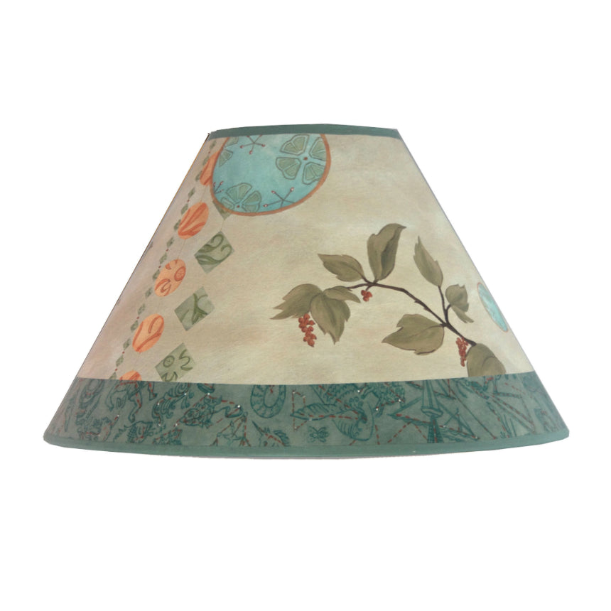 Medium Conical Lamp Shade in Celestial Leaf