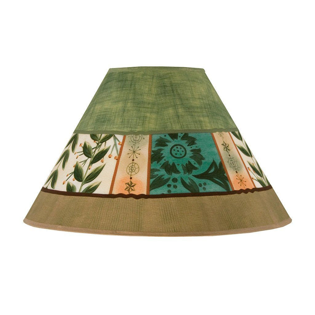 Spring Medley in Apple Medium Conical Lamp Shade