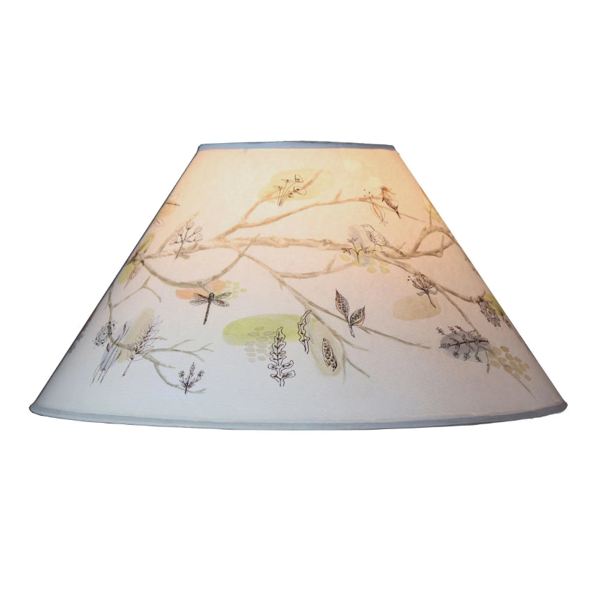 Large conical lamp shade in artful branch ugone thomas large conical lamp shade in artful branch mozeypictures Choice Image