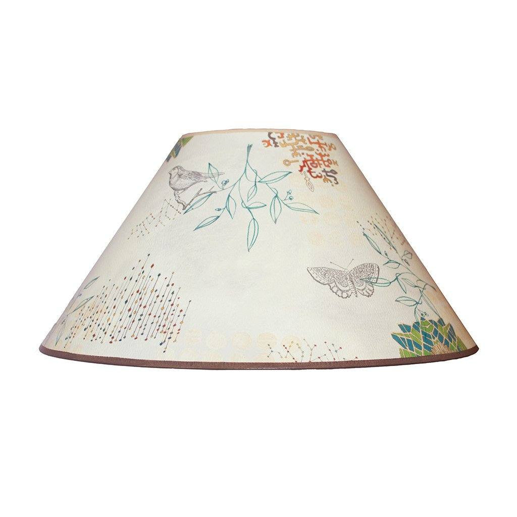 large conical lamp shade in ecru journey - Large Lamp Shades