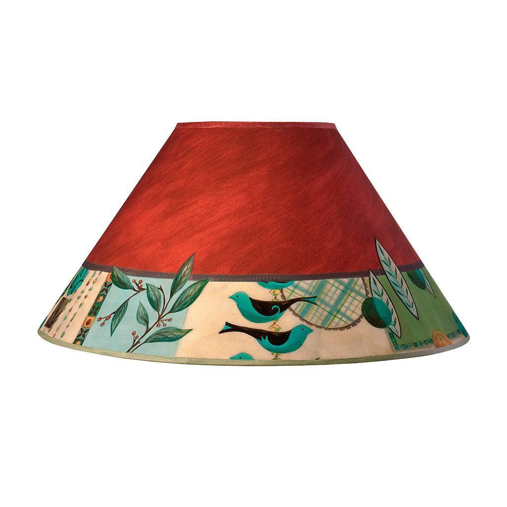 Red replacement lamp shades ugone thomas large conical lamp shade in new capri aloadofball Gallery