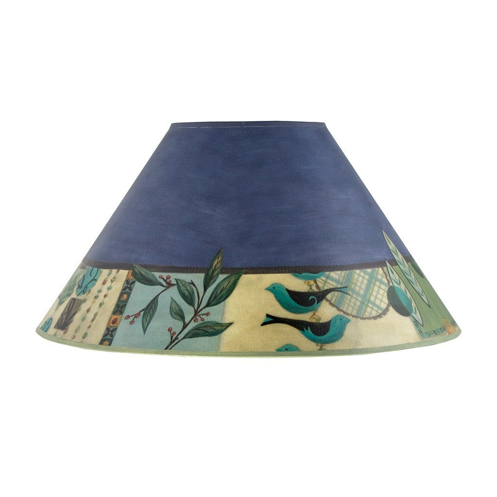New Capri in Periwinkle Large Conical Lamp Shade