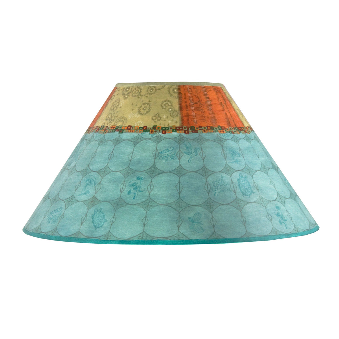 Large Conical Lamp Shade in Paradise Pool