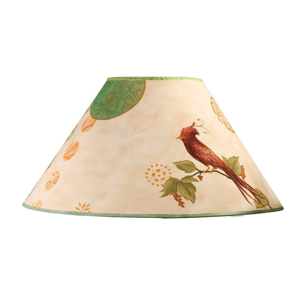 Sweet Bird in Bisque Large Conical Lamp Shade
