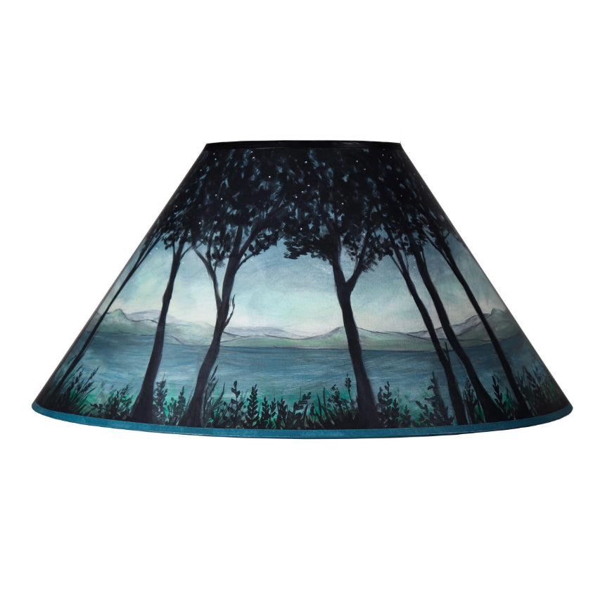 Ugone thomas fine lighting and home accessories large conical lamp shade in twilight mozeypictures Choice Image