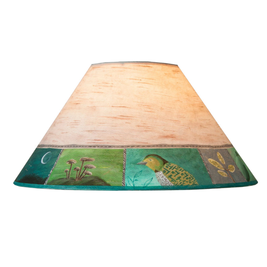 Large conical lamp shade in woodland trails in birch ugone thomas large conical lamp shade in woodland trails in birch mozeypictures Gallery