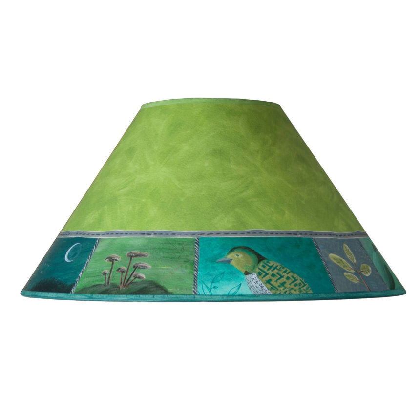 Large Conical Lamp Shade in Woodland Trails in Leaf