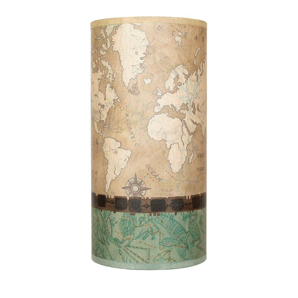 Voyages in Sand Accent Tube Lamp Shade