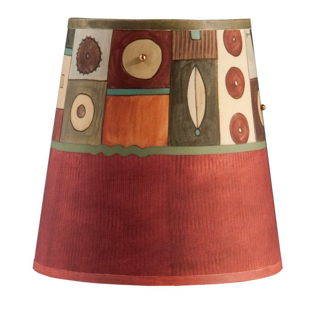 Lucky Mosaic in Maroon Accent Drum Lamp Shade