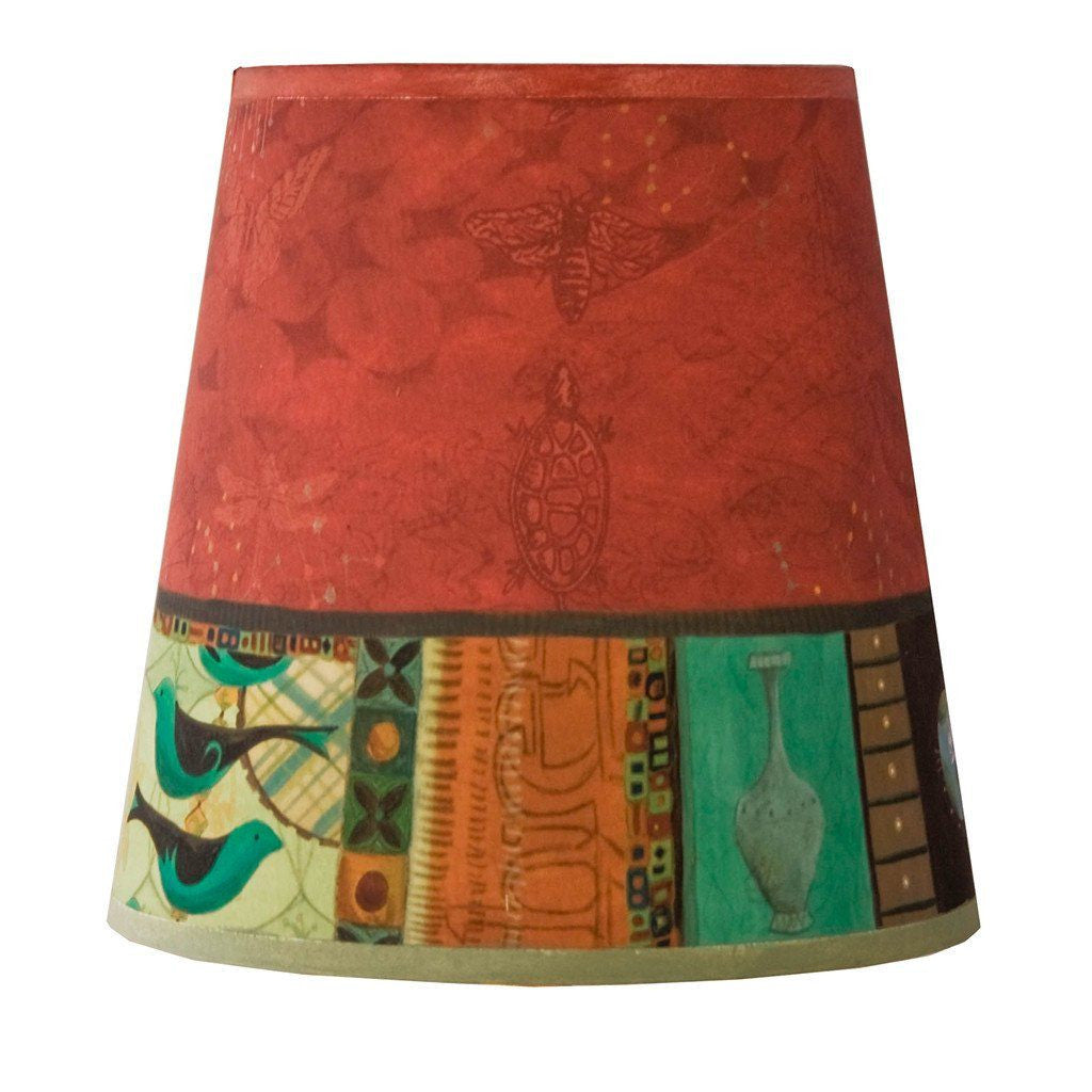 Match in Red Accent Drum Lamp Shade